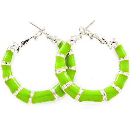 Earrings epoxy green