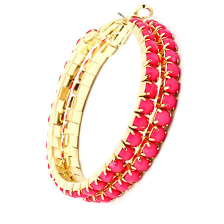 Hoop earrings pink