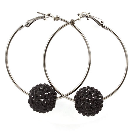 Earrings balls black