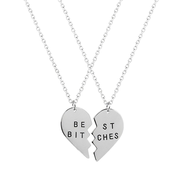 "Ketting ""Best bitches"" zilver"