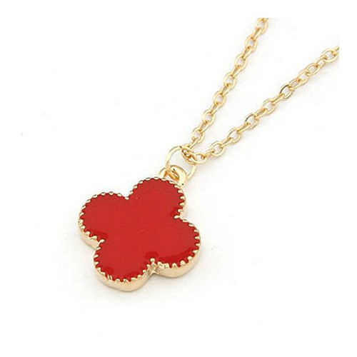 "Necklace ""clover red"""