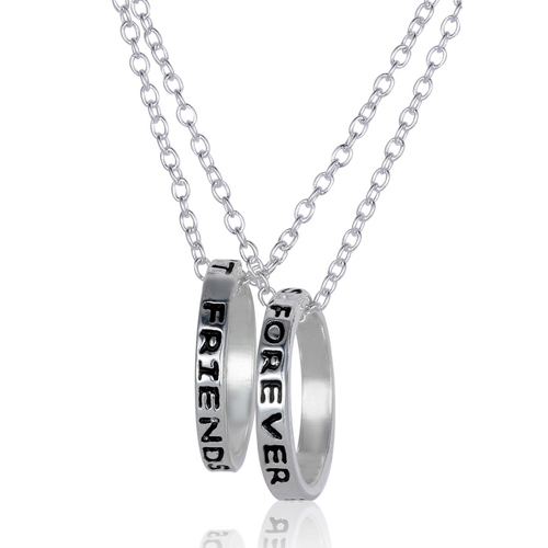 Necklace friendship silver