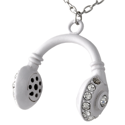 Necklace Headphone white
