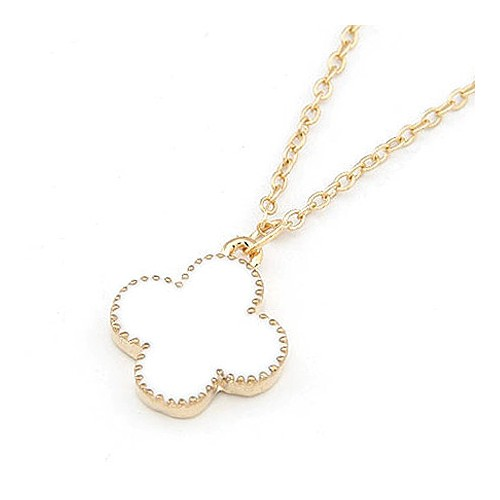 "Necklace ""clover white"""