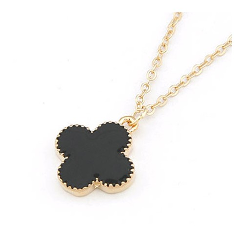 "Necklace ""clover black"""