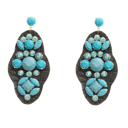 "Studs ""Leather turquoise"""