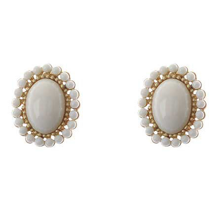 Earrings Clip on white