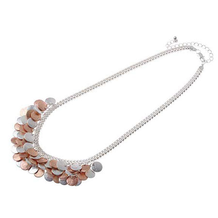Necklace charma rosé/silver