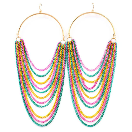 Earrings rainbow