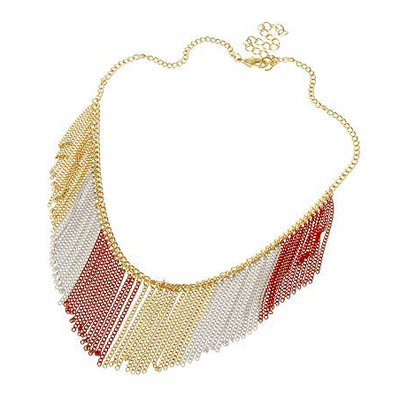 Necklace Navy red