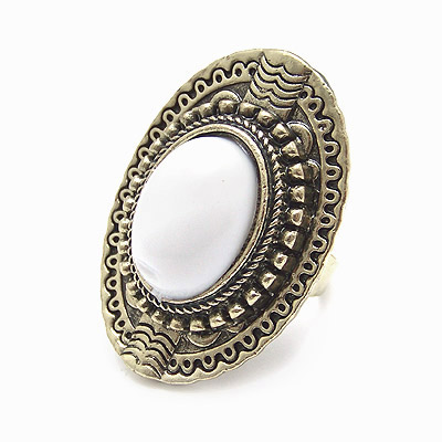 ring Bohemia adjustable white