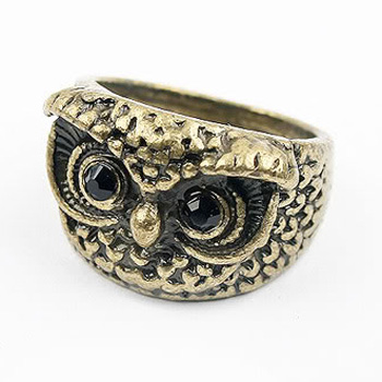 Bronze owl ring (17.5)